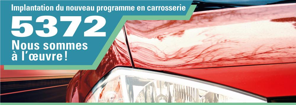 Implantation du nouveau programme en carrosserie 5372